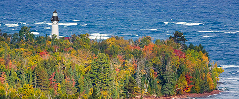 Brilliant Fall Colors Lighthouses Of The Great Lakes Download Free Architecture Designs Rallybritishbridgeorg